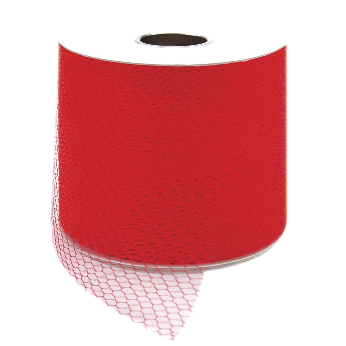 Red 40-Yard Spool Falk 3-Inch Net Mesh