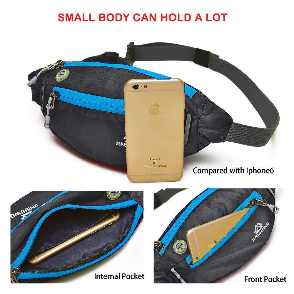 Uliteki Waist Bag for Women Men Gym Workout Yoga Travel Sport Outdoor Hiking Waist Bag Waist Trainer Bag Pack