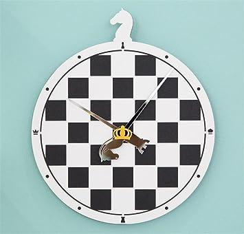 guazhong Reloj Reloj de Pared de ajedrez Creativo Personalidad Arte Restaurante Reloj Dormitorio Mudo Pared Decoración del hogar Oficina de Clase Jardín de ...