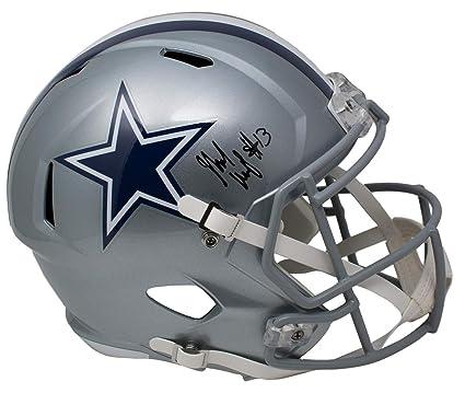 4a2460cf Michael Gallup Signed Dallas Cowboys Full Size Speed Replica Helmet TriStar
