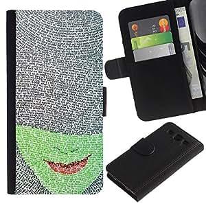 All Phone Most Case / Oferta Especial Cáscara Funda de cuero Monedero Cubierta de proteccion Caso / Wallet Case for Samsung Galaxy S3 III I9300 // Face Book Character Red Lips Read