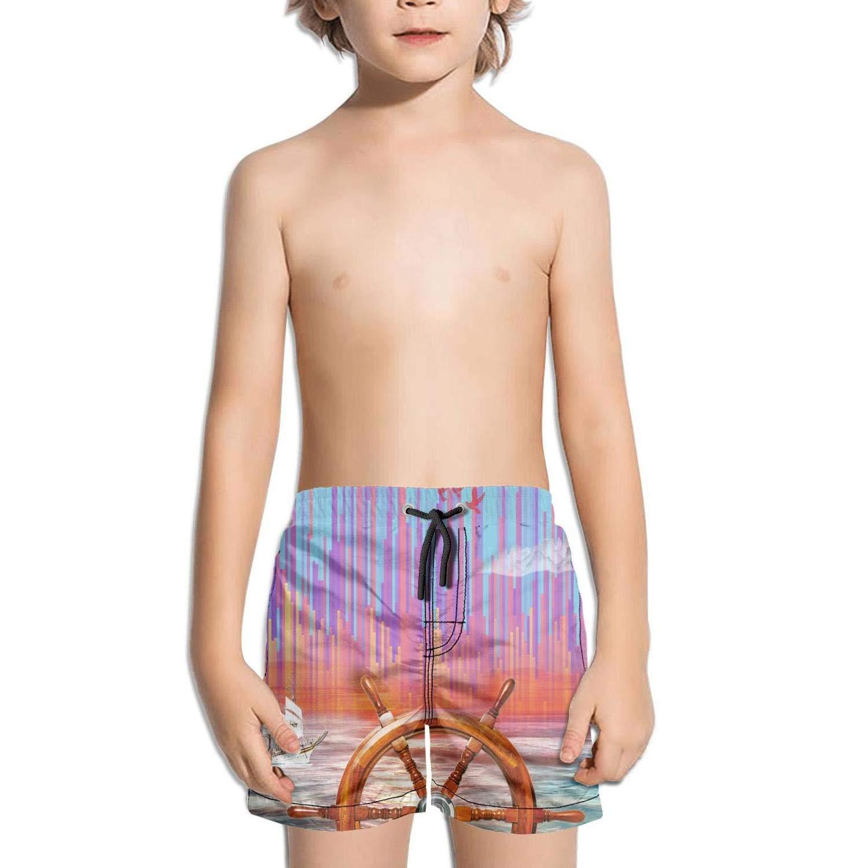 Little Boys Native American Style Short Swim Trunks Quick Dry Beach Shorts