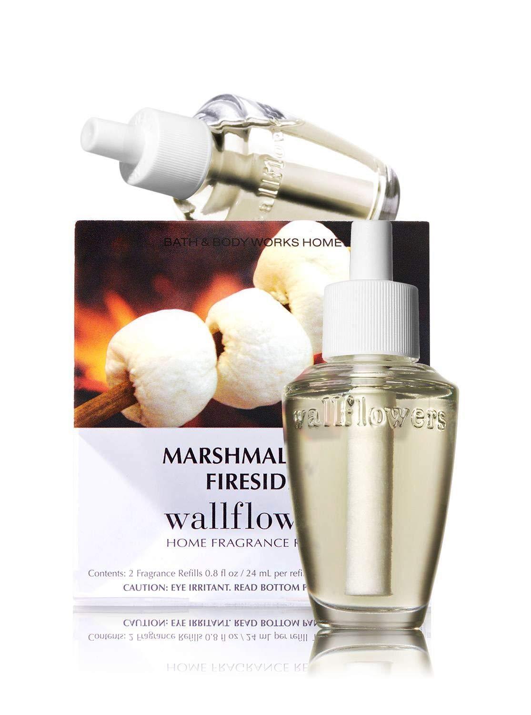 Bath & Body Works Slatkin & Co Wallflowers Home Fragrance Refill Bulbs 2 Pack Marshmallow Fireside