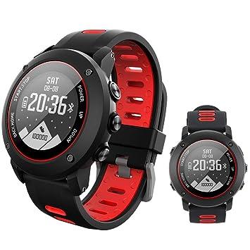 SinceY Montre Intelligente de Sport avec Boussole et GPS,Bluetooth 4.2 Smart Watch pour la