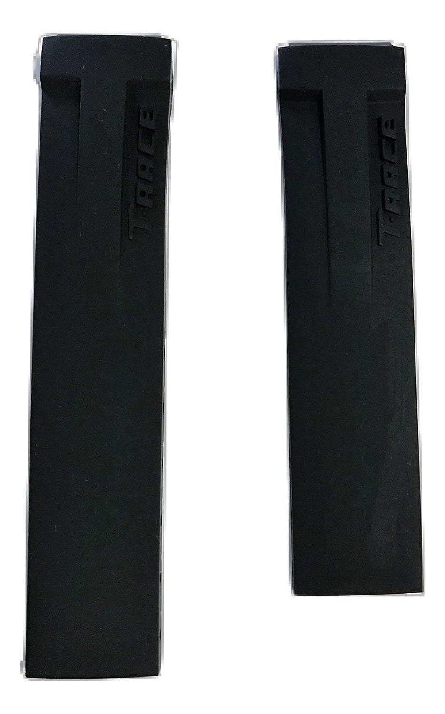 ティソレディースt-race 17 mmブラックゴムストラップBand for Back Case t048217 a  B074Y6PH7X