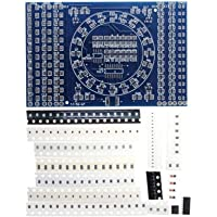 Swiftswan Rotating Flashing LED Components Soldering Practice Board DIY Set Training Suit Skill Training Tool Electronic Circuit Suit