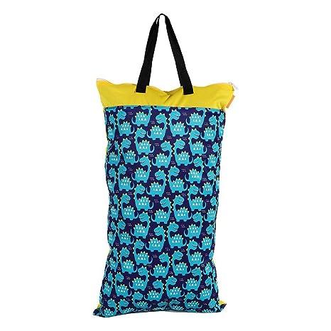 40x70 Impermeable Lavable Mojado Bolsa seca Bolsa de pañales de gran capacidad Bolsa de almacenamiento con asa para traje de baño Ropa interior(#1)