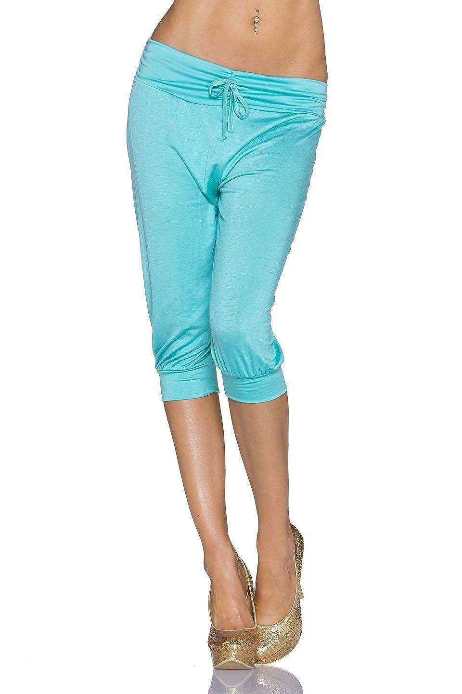 Jersey Capri Hose 3  4 lange Shorts leicht luftig Freizeit Sommer Strand 32  34 36 44e525a987