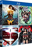 Wonder Woman + Suicide Squad + Batman v Superman : L'Aube de la justice + Man of Steel [Blu-ray]