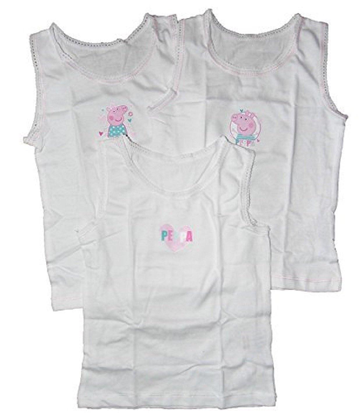 Girls 3 Pack Vest Tops Peppa Pig