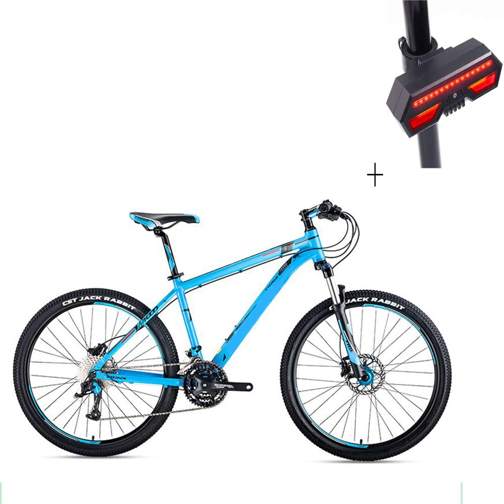 自転車、マウンテンバイク、26インチ30スピードディスクダブルブレーキアルミニウム合金高レンジオフロード車、+自転車ターンシグナル B07GYPCPH7