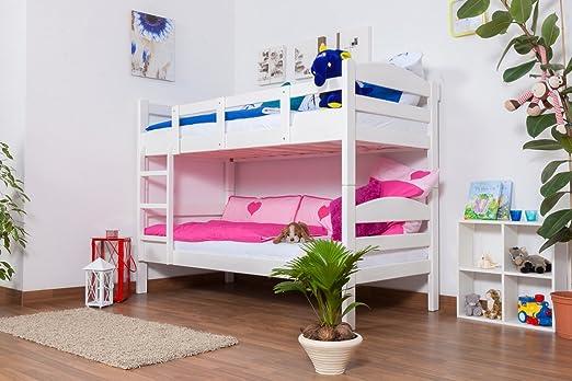 Etagenbett Buche Weiß : Etagenbett spielbett rene buche massiv weiß lackiert inkl