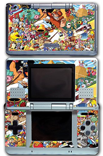 Donkey Kong Nds - Super Smash Bros Retro Collage Donkey Kong Bomberman Megaman Kirby Video Game Vinyl Decal Skin Sticker Cover for Original Nintendo DS System
