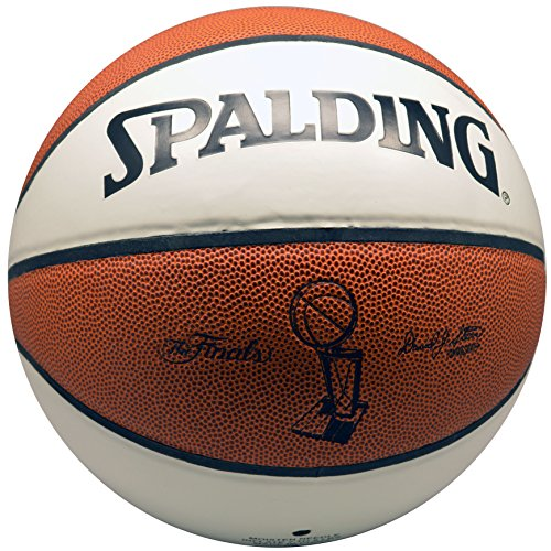 Spalding NBA the Finals Championship Trophy Basketball Whit Autograph Panels