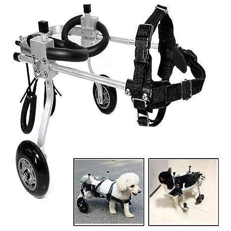 Silla de ruedas tamaño perro, Ajustable 2 Ruedas Entrenamiento de ...