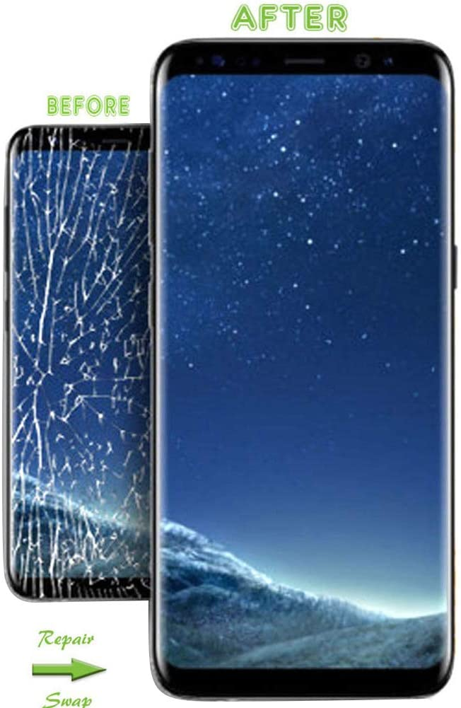 Shattered Phone for Samsung Galaxy S10 Plus for Galaxy S10//S10 Plus//S10e Screen Replacement with Screen Repair Kit for Replace Your Damaged Cracked