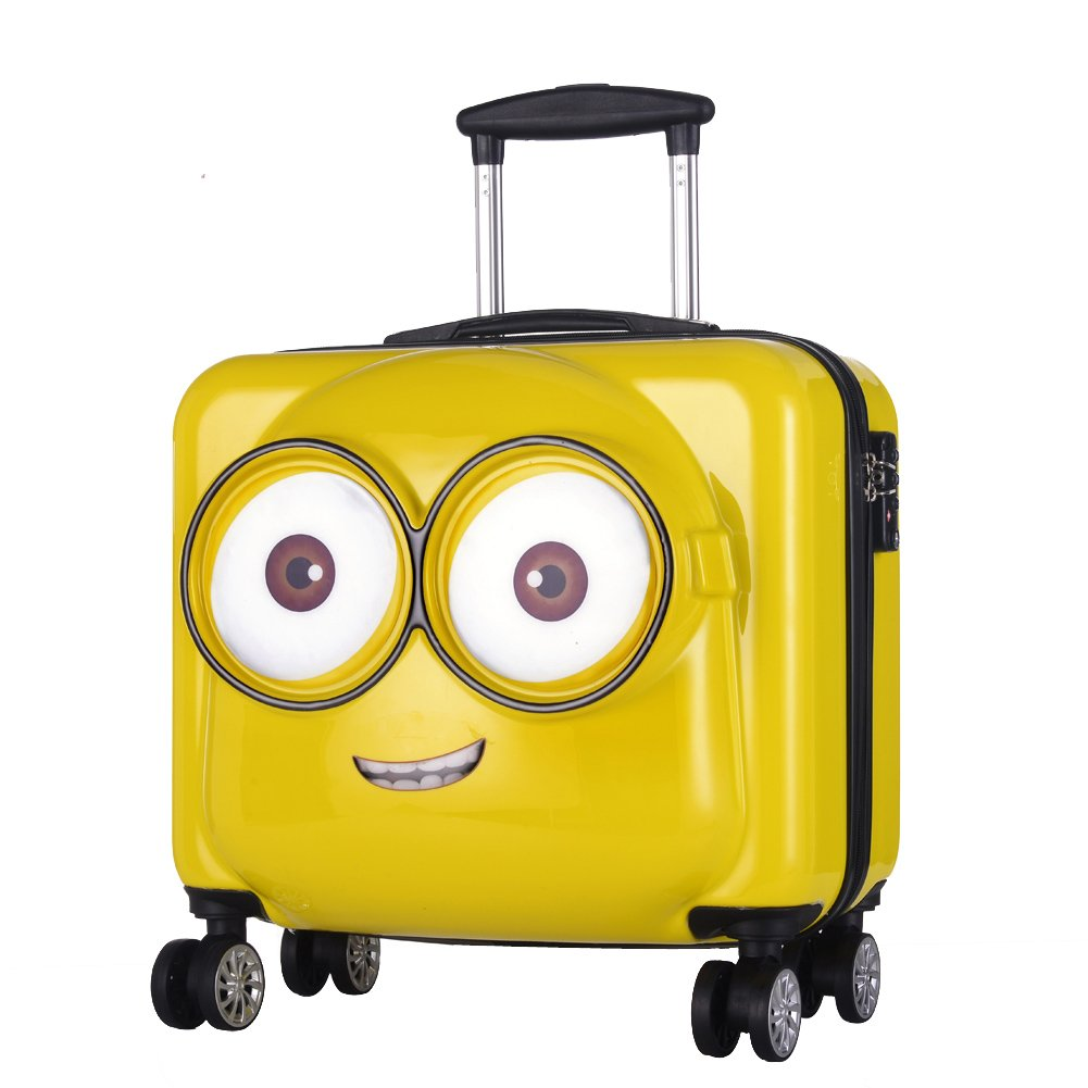 20'' Minions ABS Luggage Trolley Spinner Carry On Suitcase Travel Bags TSA Lock