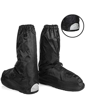 acc5603ad8 Anti-Slip Waterproof Boot Rain Covers for Shoes Motorcycle Boots size Men  7-8