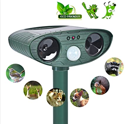 Solar Ultrasonic Animal Repellent,Outdoor Solar Animal Repeller [Motion Sensor ] Ultrasonic cat Repellent