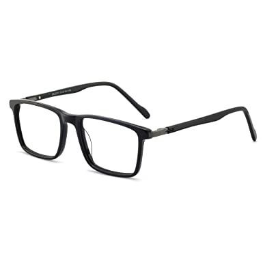 c9cdcc2cb7d7 Men eyewear frame design temple Board Full frame RX-Able Eyeglasses 52mm  (Bright black