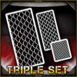 Fish Scales AirSick Airbrush Stencil Template