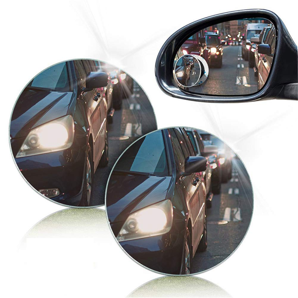 Specchio cieco cieco convesso rotondo di 360 gradi Frameless ultrasottile di paia di 1 paio per lo specchietto retrovisore di parcheggio