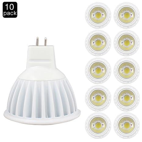 Elinkume 10*5W Luz blanca fría MR16 lámpara GU5.3 GX5.3 LED ...