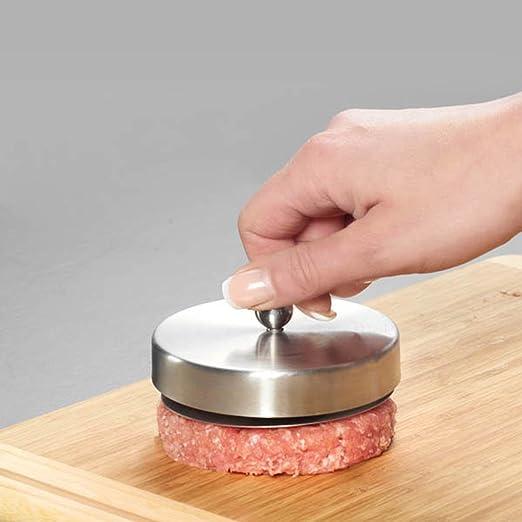 De acero inoxidable carne de res prensa para hamburguesas ...
