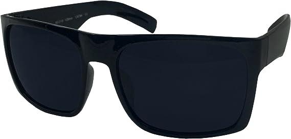 Gafas de sol XL para hombre, marco ancho, color negro, tamaño extragrande,  cuadradas, 148 mm: Amazon.com.mx: Ropa, Zapatos y Accesorios