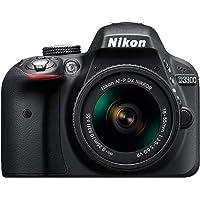 Nikon D3300 Digital SLR Camera (Black) with AF-P 18-55mm VR and AF-S DX 55-200mm VR II , Double Zoom Kit with 8GB Card, Camera Bag