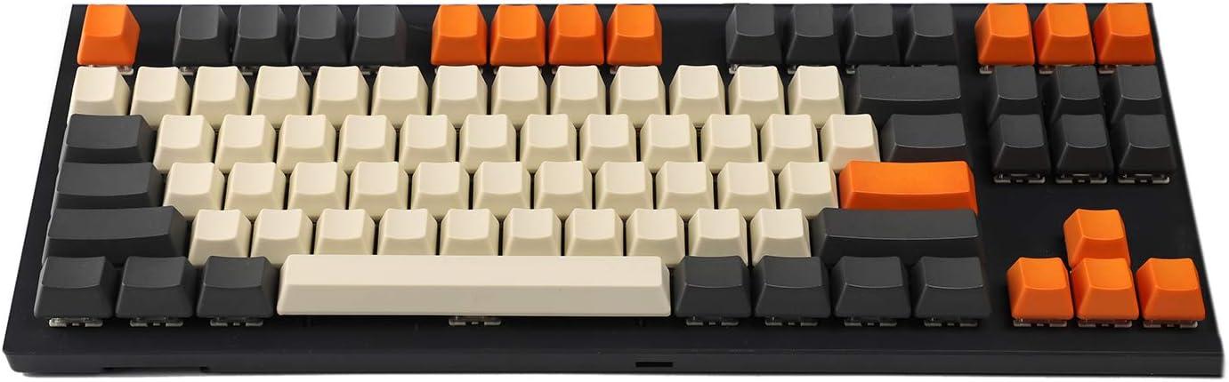 YMDK Carbon 61 87 104 - Juego de llaves para teclado mecánico MX 87 Blank