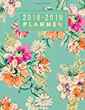 """#8: 2018-2019 Planner: Floral Weekly & Monthly Schedule Diary 
