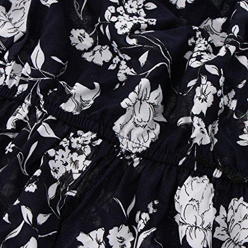Noche a Vestido Magideal Verano Regreso Tirantes Impresión Maxi Floral Club Mujeres Sin de 1 azul Casa Largo fRRWBd