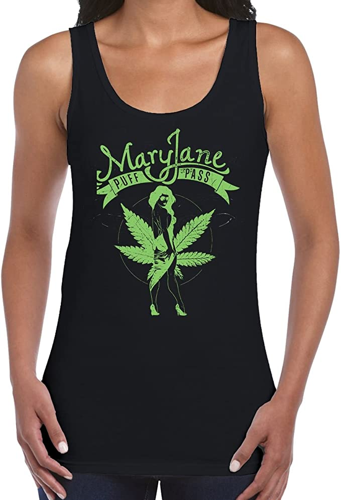 Tribal T-Shirts Mary Jane Cannabis Women's Vest Tank Top