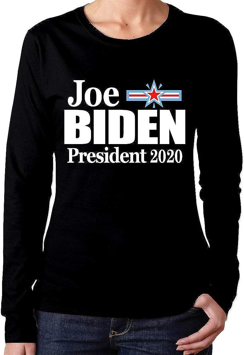 Hdaw Biden 2020 Womens Long Sleeve T-Shirts Cotton Tops Tee
