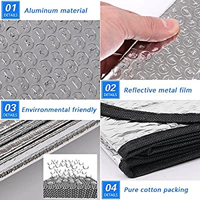 Autocastle Car Windshield Sunshade,Portable&Foldable Sun Shades,Upgraded Reflective SunBlocks,Folding Silvering UV Ray Sun Visor Protector,Ultra-Premium Window Sunshades for Car SUV Truck&Minivans: Automotive