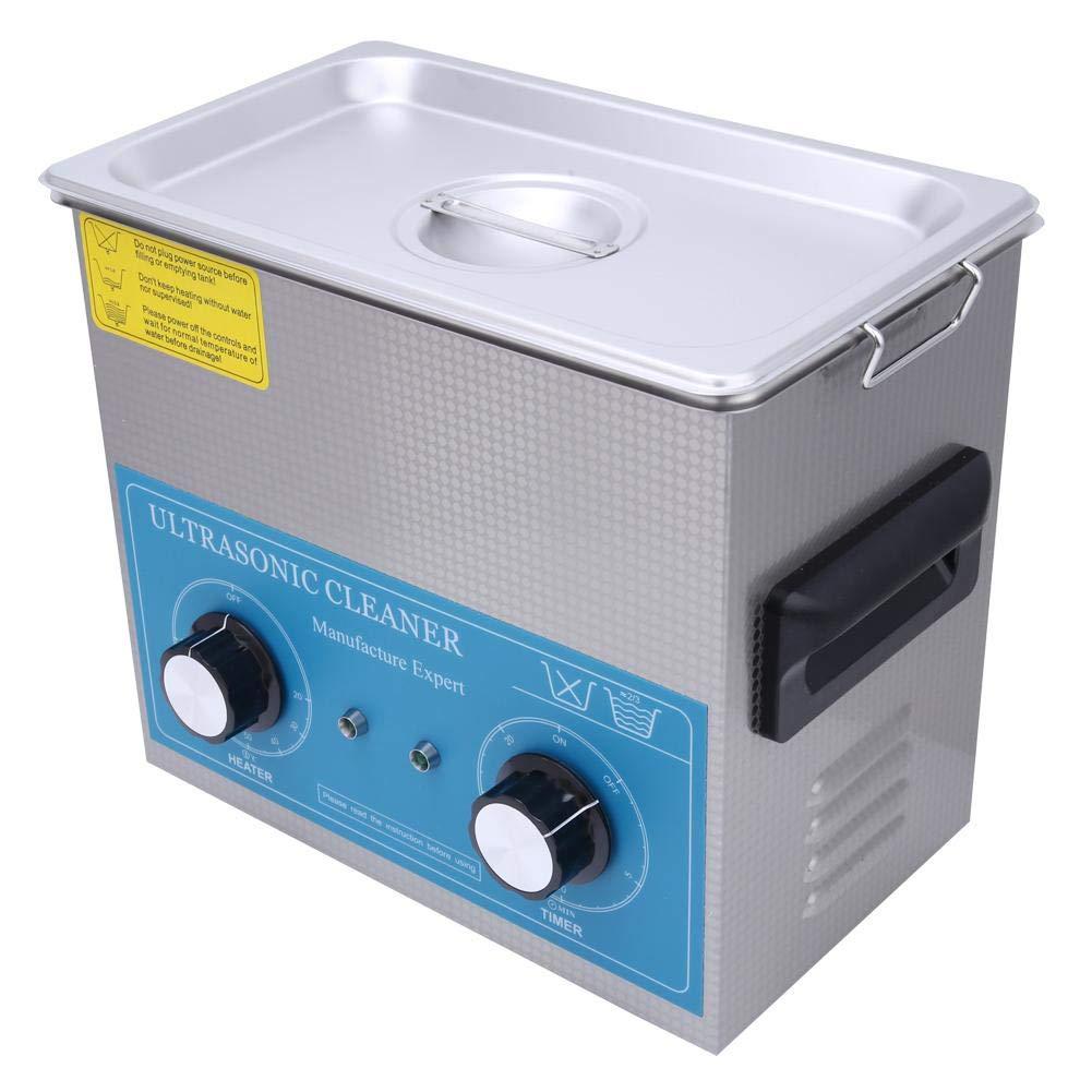 Ultraschallreiniger,340HT Industrieller Ultraschallreiniger 4,5 l mit Heizungs Timer,Edelstahl SUS304 ultraschallreinigungsger/ät 4.5L Ultrasonic Cleaner 40kHz Ultraschallreinigungsmaschine EU