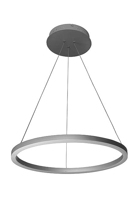 "VONN VMC31640AL Tania 24"", Adjustable Suspension Fixture, Modern Circular Chandelier Lighting in Silver"