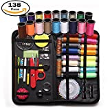 Arts & Crafts : Sewing Kit 138 Pieces for Premium Sewing Supplies, Sewing Needles, Assorted Color Threads, Scissor, Measure Tape Ect, Suit for Travel,Home Sewing Accessories, Emergency