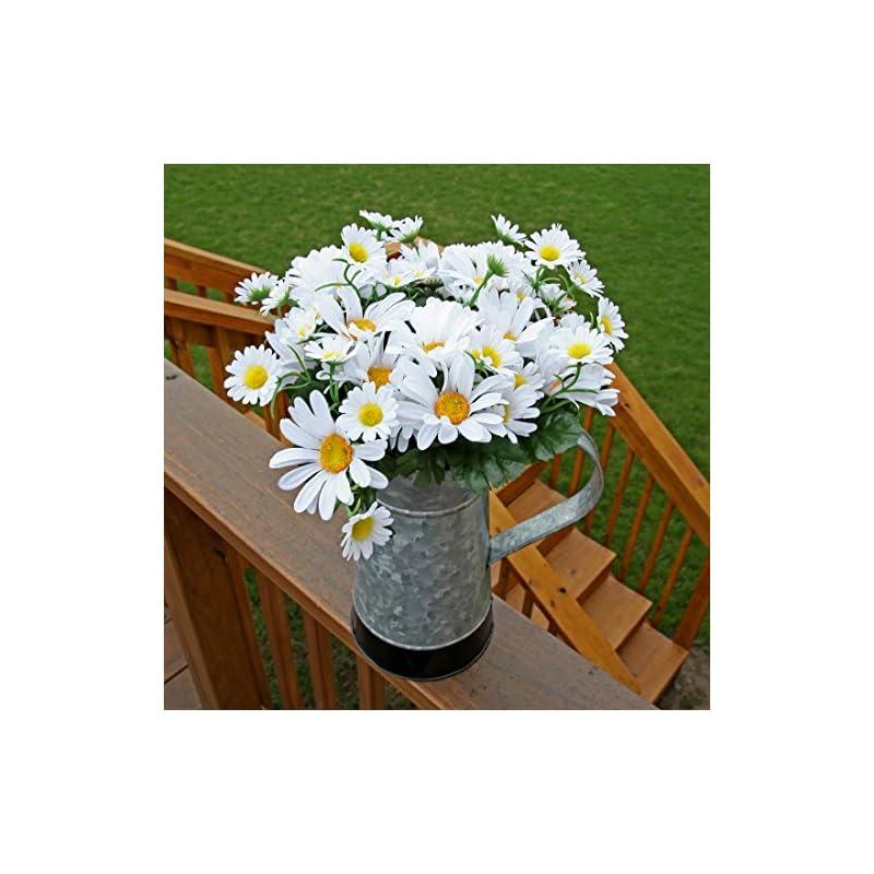 silk flower arrangements home-x artificial lifelike daisy bouquet