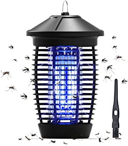 Bug Zapper Outdoor and Indoor, Kidovin Mosquito Zapper for Insect Fly Pest Moth Wasp, Waterproof Mosquito Killer with 18W UVA Replaceable Mosquito Trap Bulb for Patio Room Kitchen Garden