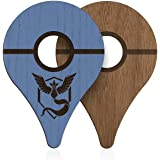 POKEWARES Shield Combo Set for Go Plus - Collect Them All - Slim Genuine Wood - Peel-N-Stick