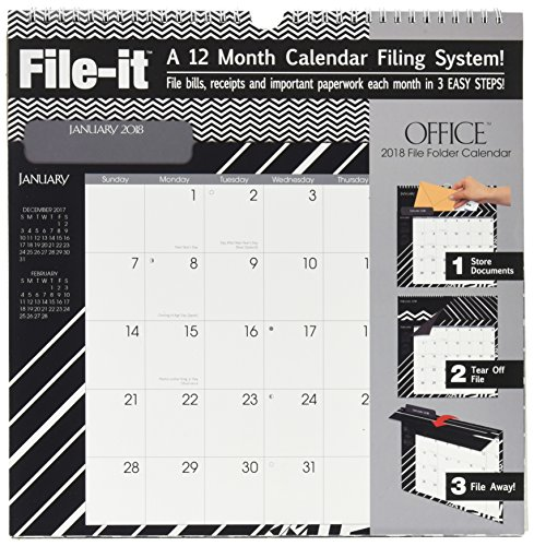 The LANG Companies WSBL Office 2018 File-It Office Wall Calendar (18997006033)