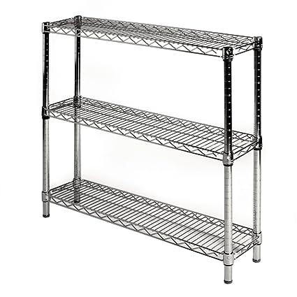 8d x 36w chrome wire shelving - Chrome Wire Shelving