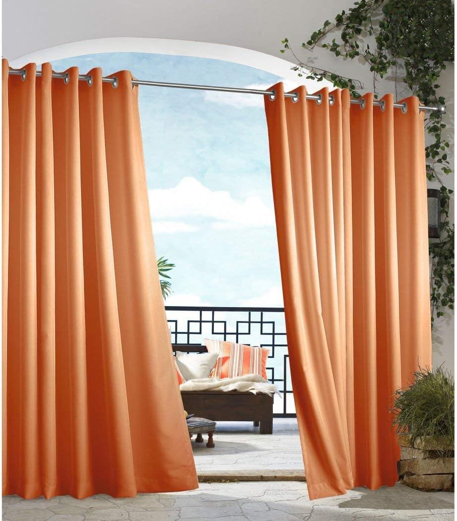 DH 1 pieza 84 pulgadas exterior naranja cenador cortina, exterior ...