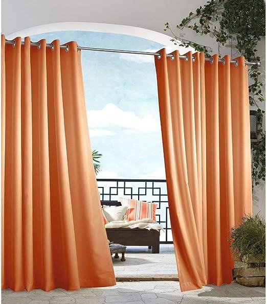 Toto - Cortina de cenador de color naranja para exteriores, para ...