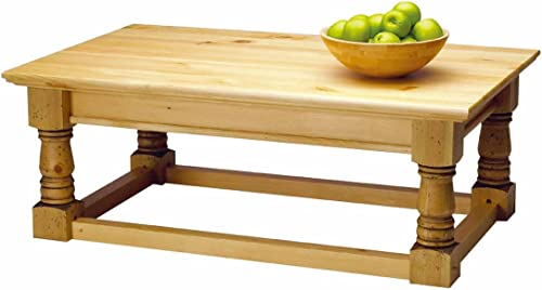 Renovator's Supply Country Pine Finish 17 Inch Vintage Coffee and Center Table Set