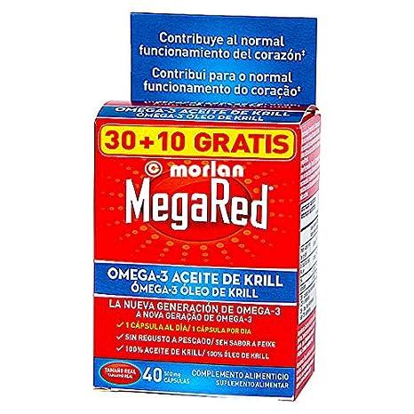 Megared Omega-3 - Aceite de Krill, 30 + 10 capsules: Amazon.es: Salud y cuidado personal