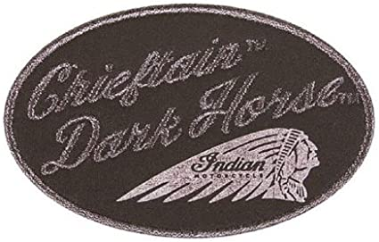 COLOR HEADDRESS PATCH BY INDIAN MOTORCYCLE EMBROIDERED TEXTILE LOGO CHIEFTAIN