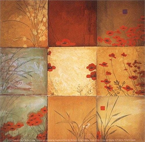Poppy Nine Patch by Don Li-Leger Laminated Art Print, 5 x 5 ()